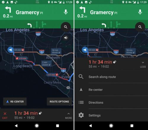 谷歌地图新界面